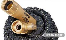 PH.2 Pocket Hose Top Brass... Welcome to the New Age of Watering...
